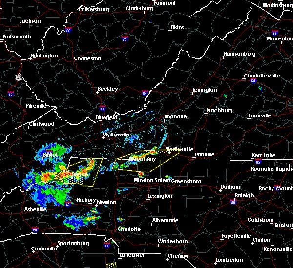 Radar Image for Severe Thunderstorms near Chatmoss, VA at 7/19/2020 6:15 PM EDT