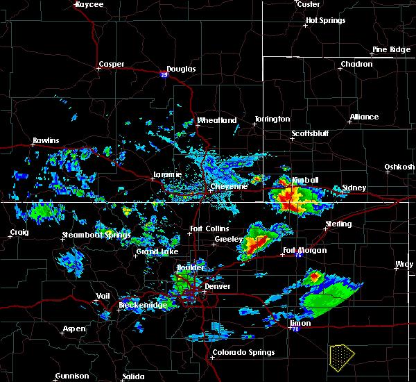 Radar Image for Severe Thunderstorms near Dix, NE at 7/19/2020 4:37 PM MDT
