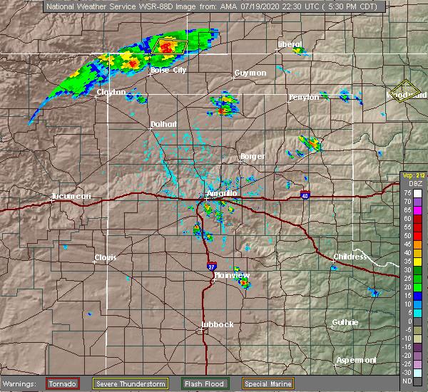 Radar Image for Severe Thunderstorms near Keyes, OK at 7/19/2020 5:37 PM CDT