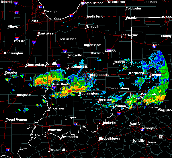 Radar Image for Severe Thunderstorms near Paris, IL at 7/19/2020 5:43 PM CDT