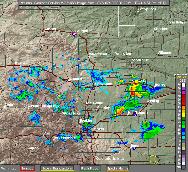 Radar Image for Severe Thunderstorms near Dix, NE at 7/19/2020 4:53 PM MDT