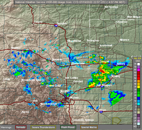 Radar Image for Severe Thunderstorms near Dix, NE at 7/19/2020 5:03 PM MDT