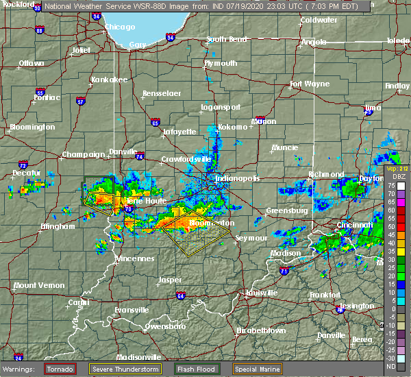 Radar Image for Severe Thunderstorms near Paris, IL at 7/19/2020 6:07 PM CDT