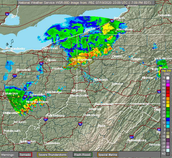 Radar Image for Severe Thunderstorms near South New Castle, PA at 7/19/2020 7:15 PM EDT