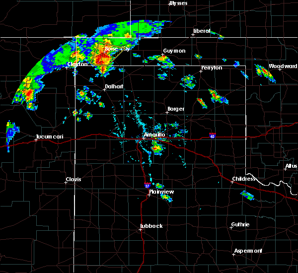 Radar Image for Severe Thunderstorms near Keyes, OK at 7/19/2020 6:19 PM CDT