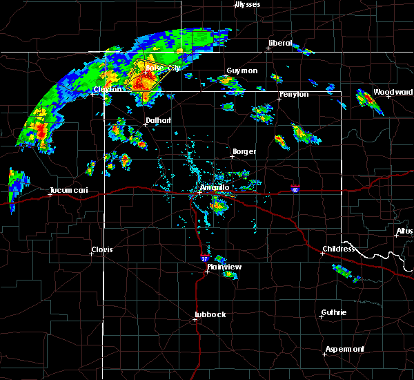 Radar Image for Severe Thunderstorms near Boise City, OK at 7/19/2020 6:38 PM CDT