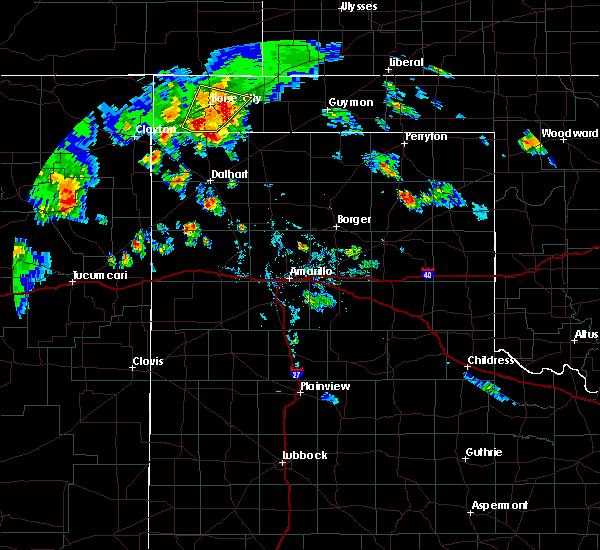 Radar Image for Severe Thunderstorms near Boise City, OK at 7/19/2020 6:51 PM CDT