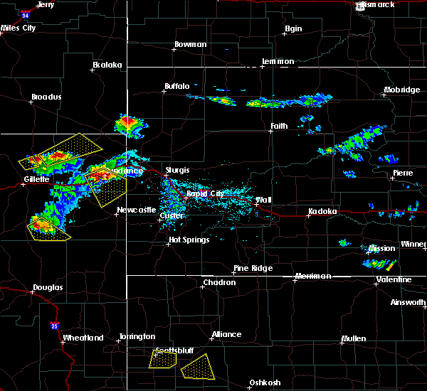 Radar Image for Severe Thunderstorms near Osage, WY at 7/19/2020 5:52 PM MDT