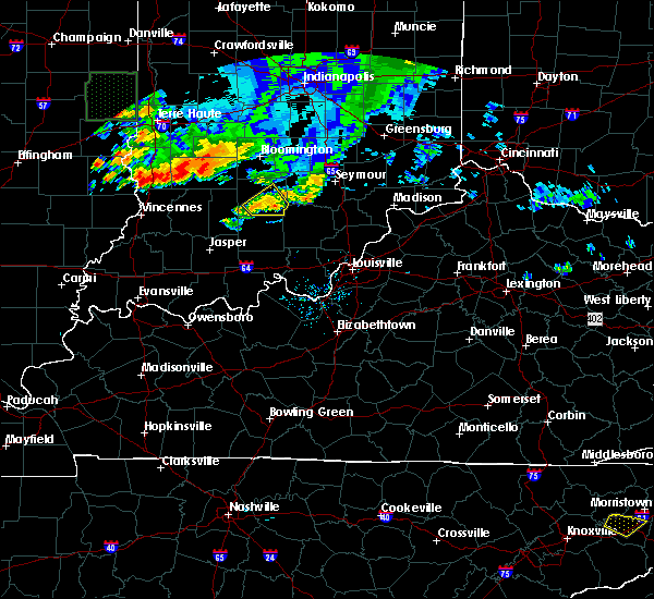 Radar Image for Severe Thunderstorms near Bedford, IN at 7/19/2020 8:20 PM EDT
