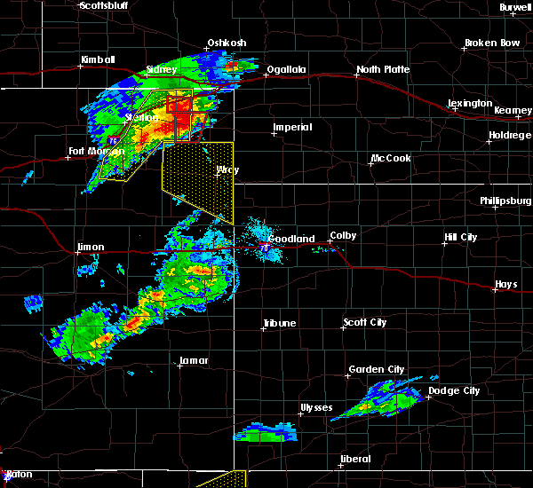 Radar Image for Severe Thunderstorms near Paoli, CO at 7/19/2020 6:26 PM MDT