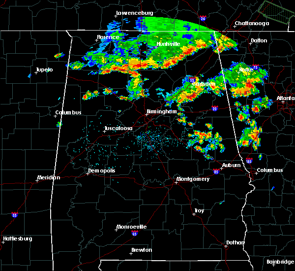 Radar Image for Severe Thunderstorms near Weaver, AL at 7/1/2015 3:36 PM CDT