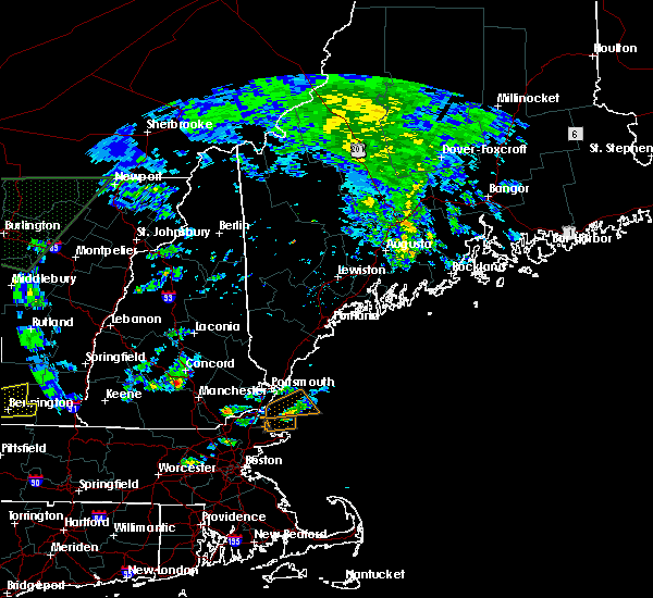 Radar Image for Severe Thunderstorms near Raymond, NH at 7/1/2015 4:40 PM EDT