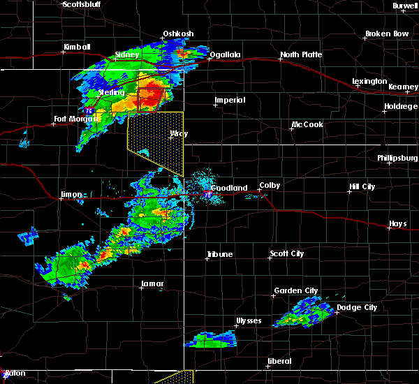 Radar Image for Severe Thunderstorms near Amherst, CO at 7/19/2020 6:37 PM MDT