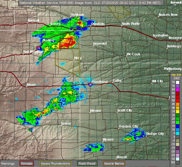 Radar Image for Severe Thunderstorms near Imperial, NE at 7/19/2020 6:50 PM MDT