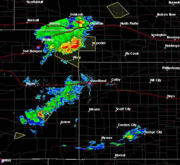 Radar Image for Severe Thunderstorms near Laird, CO at 7/19/2020 7:06 PM MDT