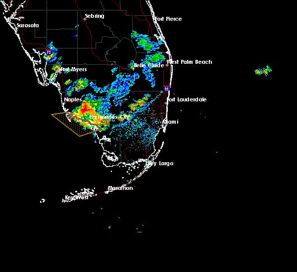 Radar Image for Severe Thunderstorms near Golden Gate, FL at 7/1/2015 4:52 PM EDT