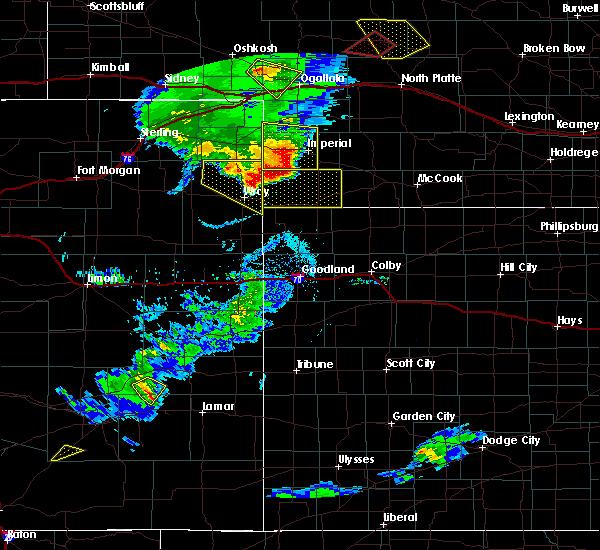 Radar Image for Severe Thunderstorms near Imperial, NE at 7/19/2020 7:33 PM MDT