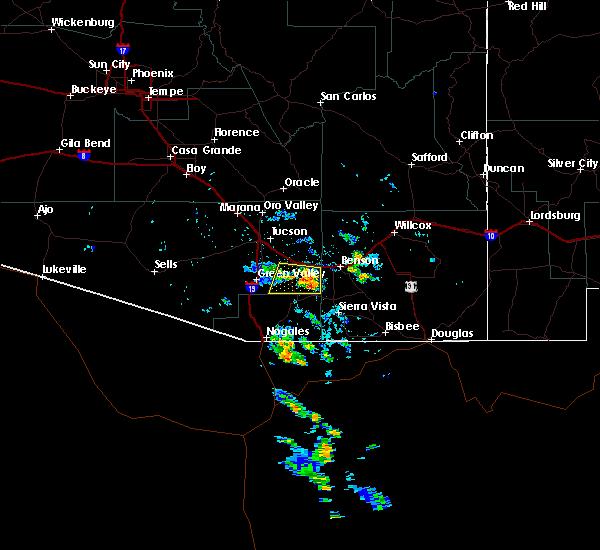 Radar Image for Severe Thunderstorms near Tucson, AZ at 7/1/2015 2:13 PM MST
