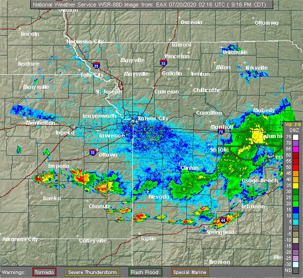 Radar Image for Severe Thunderstorms near Elsmore, KS at 7/19/2020 9:19 PM CDT