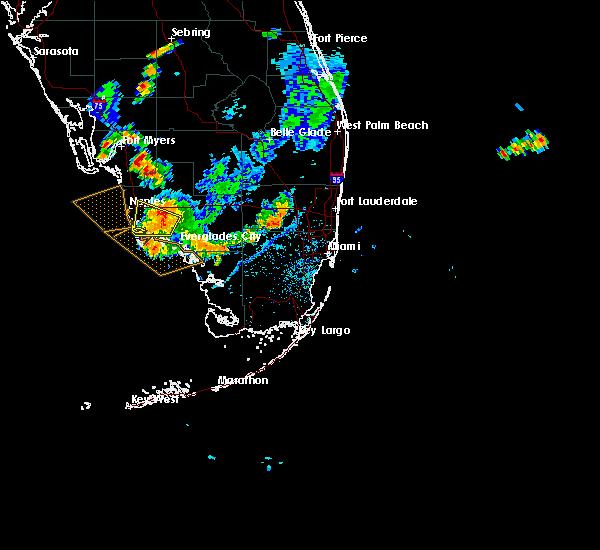 Radar Image for Severe Thunderstorms near Golden Gate, FL at 7/1/2015 5:18 PM EDT