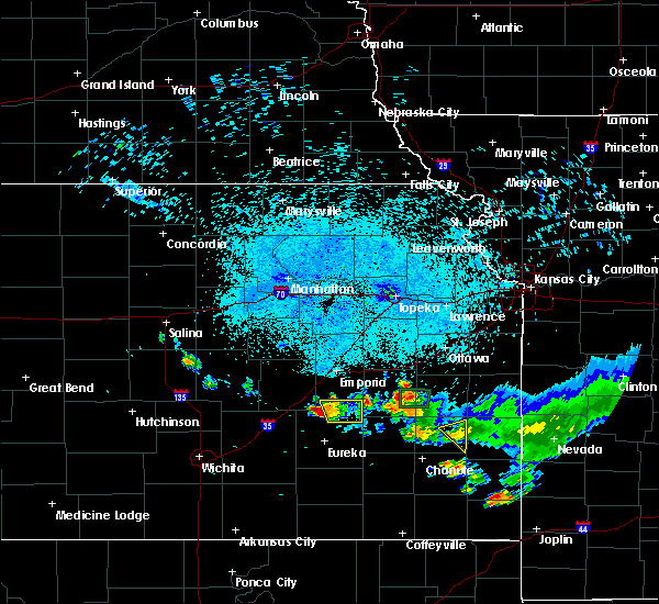 Radar Image for Severe Thunderstorms near Hamilton, KS at 7/19/2020 9:44 PM CDT