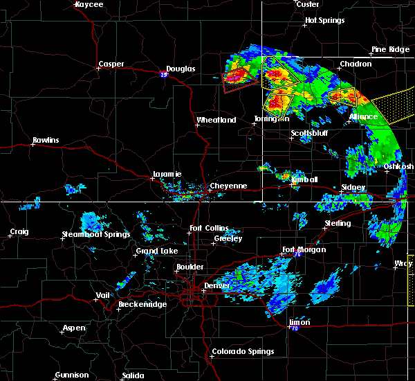 Radar Image for Severe Thunderstorms near Lusk, WY at 7/19/2020 8:48 PM MDT