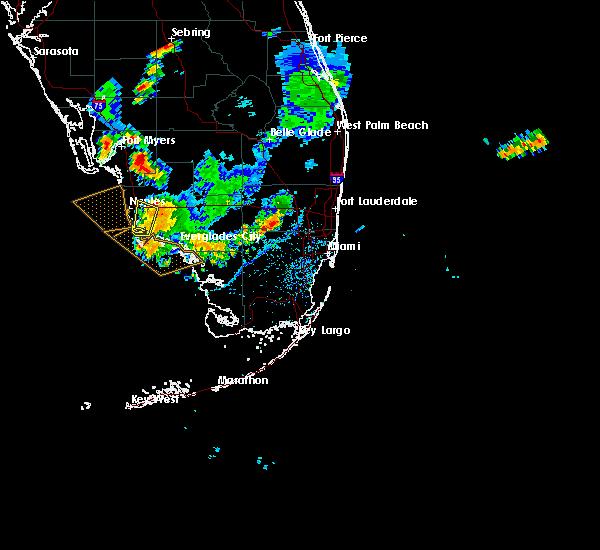 Radar Image for Severe Thunderstorms near Golden Gate, FL at 7/1/2015 5:24 PM EDT