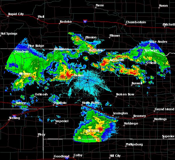 Radar Image for Severe Thunderstorms near Mullen, NE at 7/19/2020 10:52 PM MDT