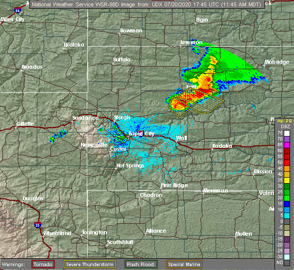 Radar Image for Severe Thunderstorms near Eagle Butte, SD at 7/20/2020 11:47 AM MDT