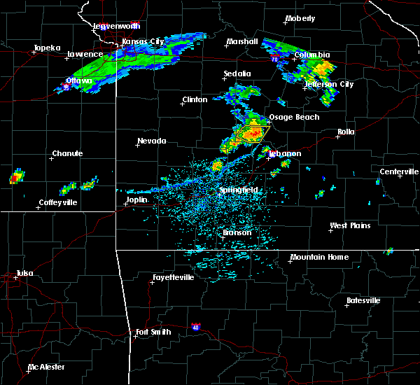 Radar Image for Severe Thunderstorms near Linn Creek, MO at 7/20/2020 1:04 PM CDT