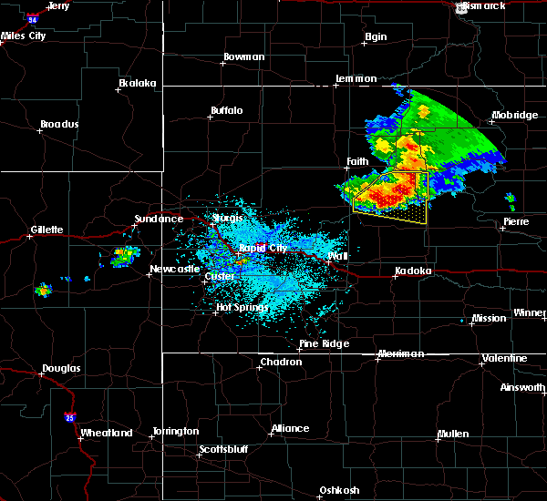 Radar Image for Severe Thunderstorms near Eagle Butte, SD at 7/20/2020 12:22 PM MDT