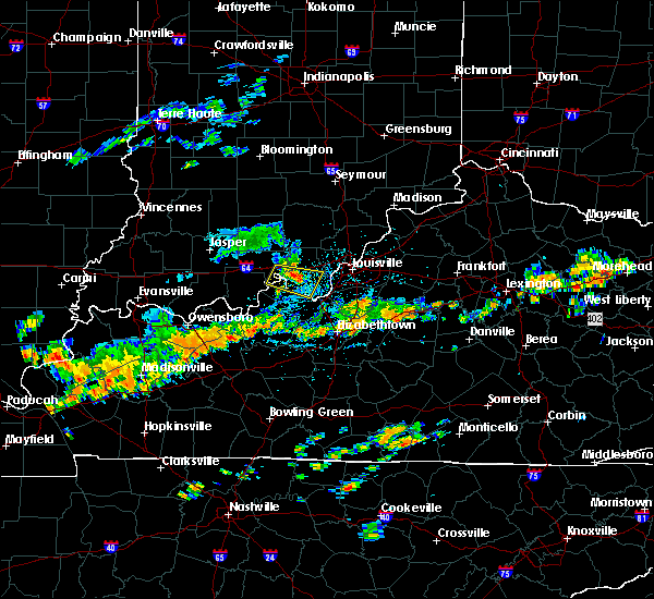 Radar Image for Severe Thunderstorms near New Middletown, IN at 7/20/2020 2:30 PM EDT