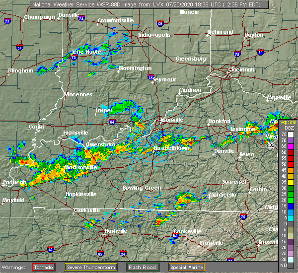 Radar Image for Severe Thunderstorms near New Middletown, IN at 7/20/2020 2:43 PM EDT