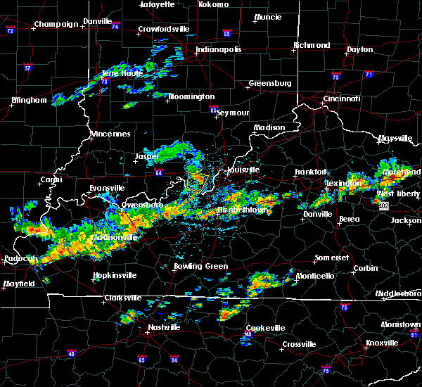 Radar Image for Severe Thunderstorms near Fairfield, KY at 7/20/2020 2:45 PM EDT
