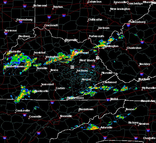 Radar Image for Severe Thunderstorms near Mount Sterling, KY at 7/20/2020 3:11 PM EDT