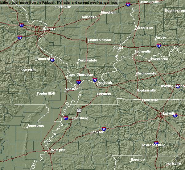 Radar Image for Severe Thunderstorms near Lambert, MO at 7/20/2020 2:36 PM CDT