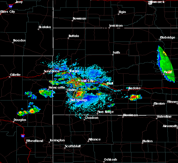 Radar Image for Severe Thunderstorms near Fairburn, SD at 7/20/2020 2:39 PM MDT