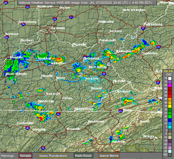 Radar Image for Severe Thunderstorms near Paris, KY at 7/20/2020 4:43 PM EDT