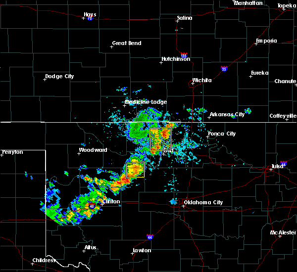 Radar Image for Severe Thunderstorms near Medford, OK at 7/20/2020 4:54 PM CDT
