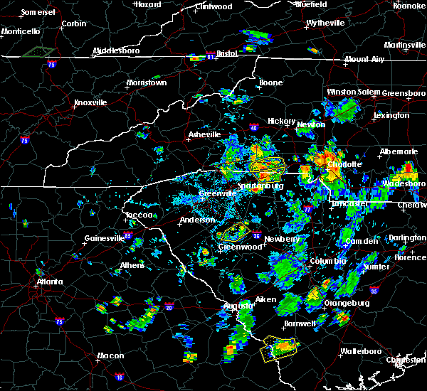 Radar Image for Severe Thunderstorms near Mooresboro, NC at 7/20/2020 6:04 PM EDT