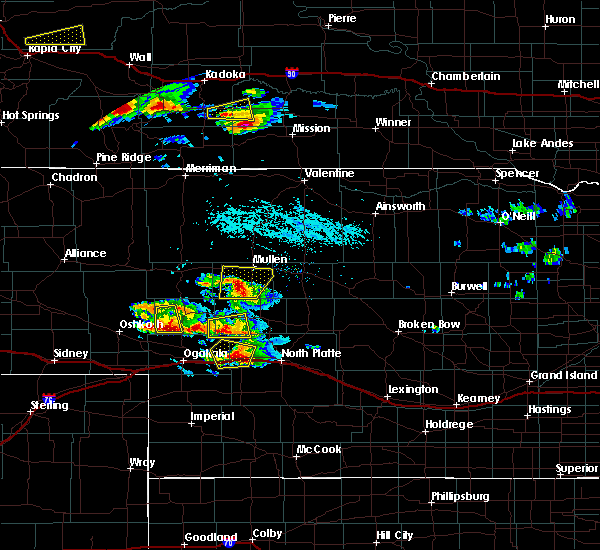 Radar Image for Severe Thunderstorms near Mission, SD at 7/20/2020 5:03 PM CDT