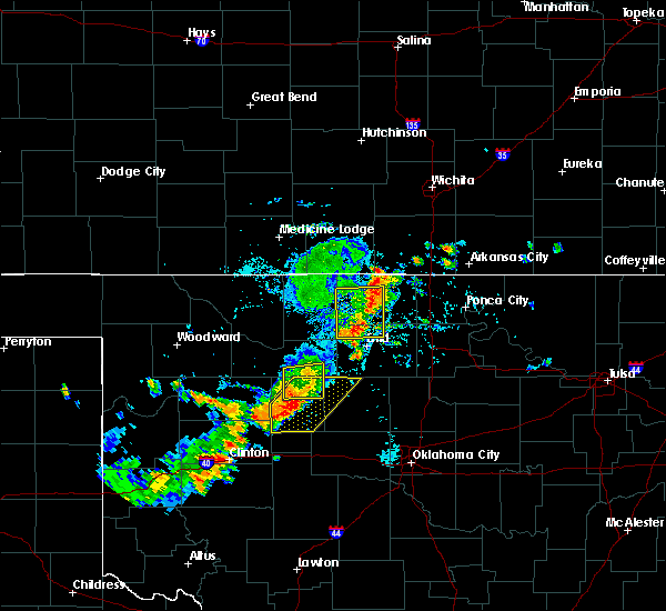 Radar Image for Severe Thunderstorms near Loyal, OK at 7/20/2020 5:07 PM CDT