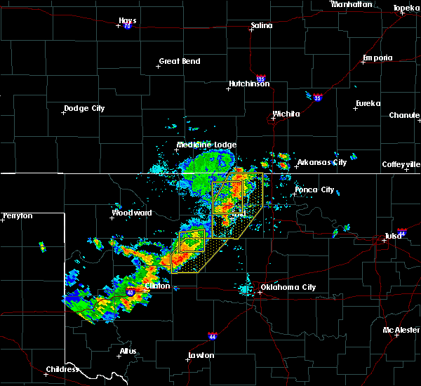 Radar Image for Severe Thunderstorms near Fairmont, OK at 7/20/2020 5:12 PM CDT
