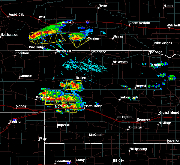 Radar Image for Severe Thunderstorms near Mission, SD at 7/20/2020 5:21 PM CDT