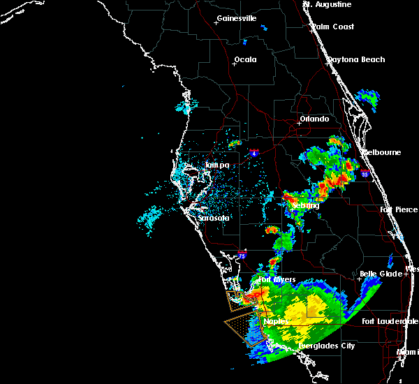Radar Image for Severe Thunderstorms near Avon Park, FL at 7/1/2015 6:33 PM EDT