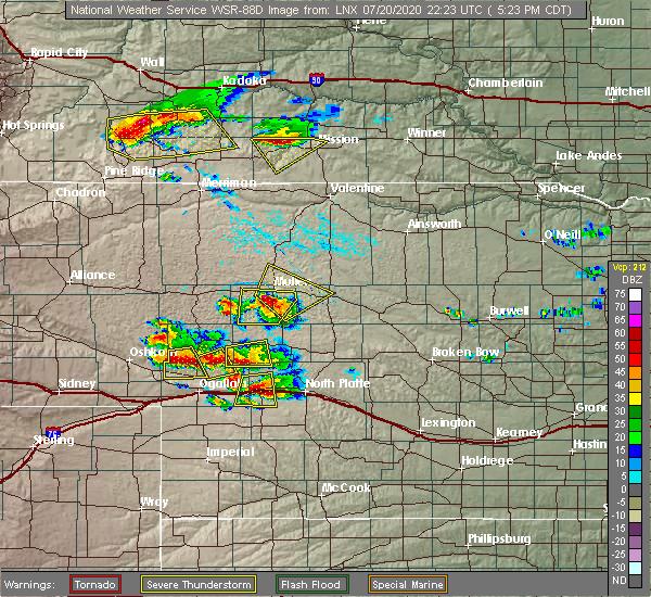 Radar Image for Severe Thunderstorms near Mullen, NE at 7/20/2020 4:34 PM MDT