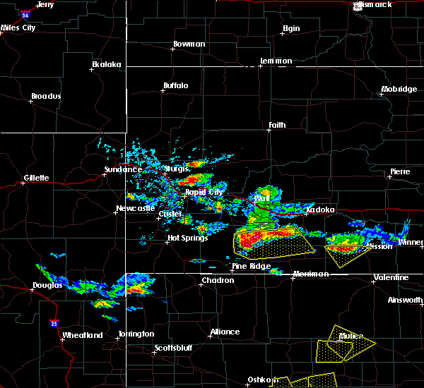 Radar Image for Severe Thunderstorms near Kyle, SD at 7/20/2020 4:39 PM MDT