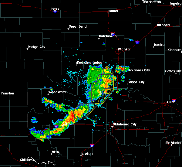 Radar Image for Severe Thunderstorms near Medford, OK at 7/20/2020 5:46 PM CDT