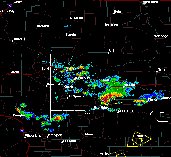 Radar Image for Severe Thunderstorms near Kyle, SD at 7/20/2020 4:47 PM MDT