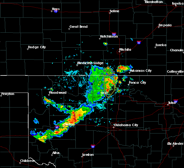 Radar Image for Severe Thunderstorms near Medford, OK at 7/20/2020 5:54 PM CDT